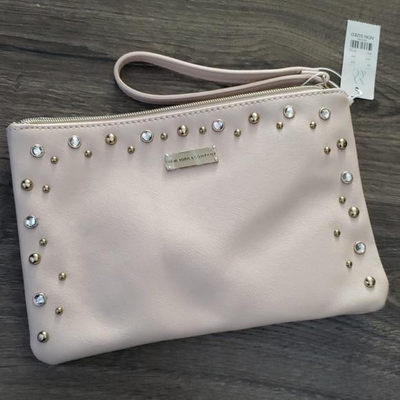 New York & Company Handbags - Pink/Blush Clutch bag